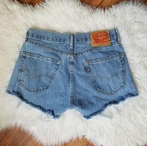 Vintage Levi's 505 cut off shorts